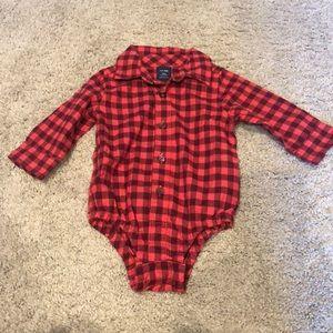 Baby gap flannel onsie